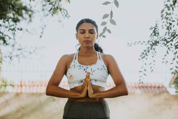 woman doing yoga activity