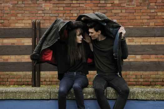 city couple girl jacket